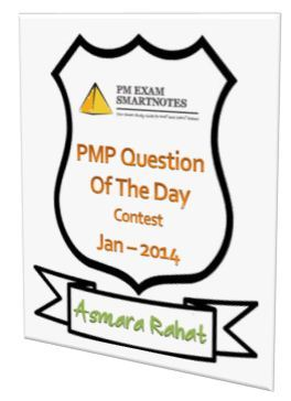 Jan-2014 winner 'PMP Question Of The Day' contest