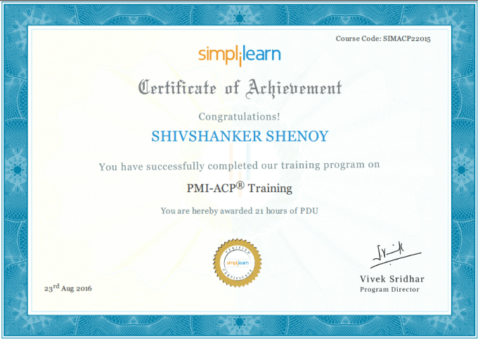 Simplilearn Pmi Acp Online Course Hands On Review Get 21 Pdus Get