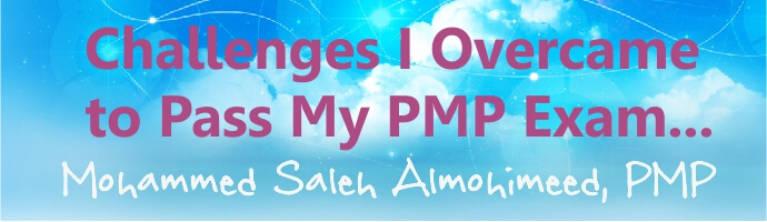 my pmp lessons learned saleh