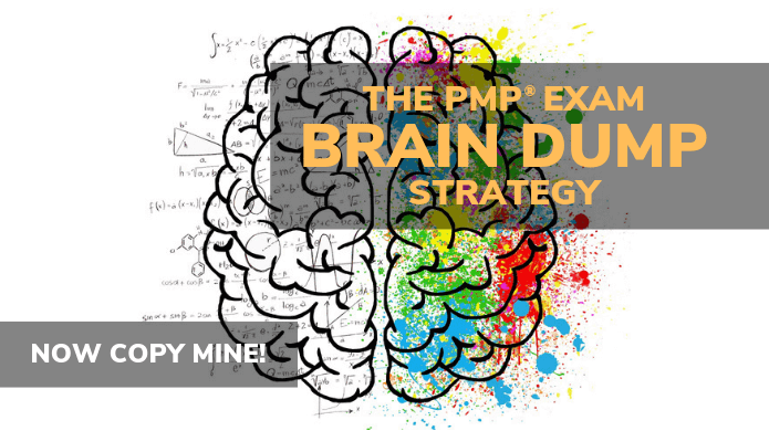 PMP® Brain dump Strategy - now you can use this as strategy