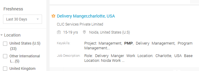 pmp in job profile
