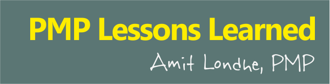 pmp lessons learned amit londhe