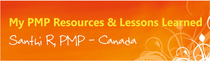 pmp resources lessons learned santhi