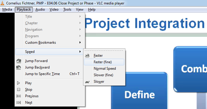 agile prepcast vlc adjust speed